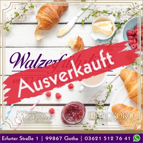 Walzerfrühstück im BARokoko in Gotha ausverkauft
