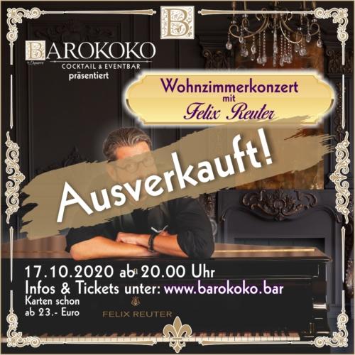 Felix Reuter im BARokoko in Gotha ausverkauft