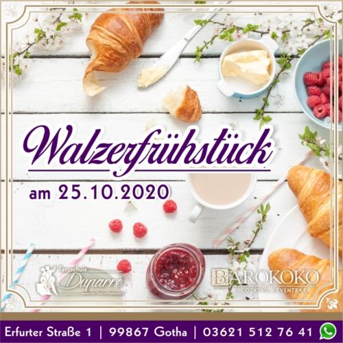 Walzerfrühstück in Gothas Innenstadt im BARokoko in Gotha