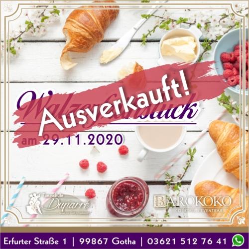 Walzerfrühstück im BARokoko in Gotha ausverkauft November