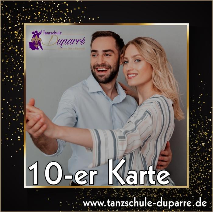 10 er Karte der Tanzschule Duparre in Gotha als perfektes Weihnachtsgeschenk