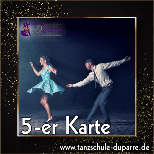 Geschenkgutschein 5er Karte für die Tanzschule Duparre in Gotha ist das perfekte Weihnachtsgeschenk